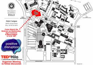 Map of University of Hawaii at Hilo UCB 100